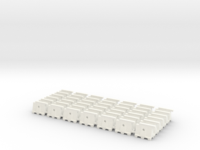 Barricade 02. N Scale (1:160) in White Strong & Flexible Polished