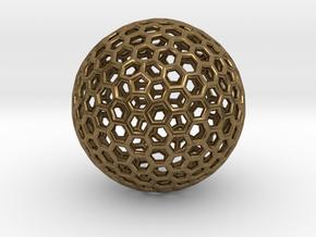 Goldberg Polyhedron pendant in Natural Bronze