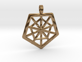 PROTECTION GRID in Natural Brass