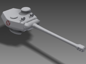 1/100 T-20 Turret in White Strong & Flexible