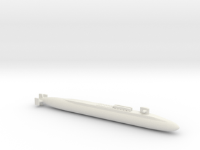 Ohio SSBN With Seal Pods, Full Hull, 1/2400 in White Natural Versatile Plastic