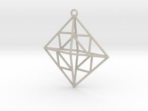 OCTAHEDRON Earring / Pendant Nº2 in Natural Sandstone