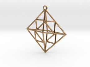 OCTAHEDRON Earring / Pendant Nº2 in Polished Brass