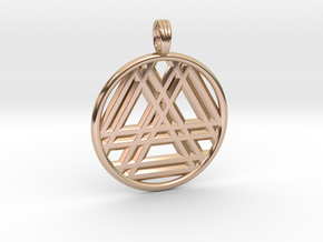 RESONANT TRINITY in 14k Rose Gold Plated Brass