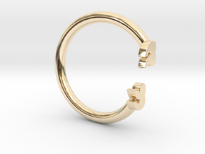 Punctuation Series: Quotation Ring (size 5.5) in 14k Gold Plated Brass