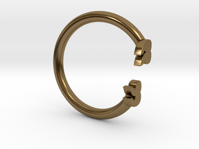 Punctuation Series: Quotation Ring (size 5.5) in Polished Bronze