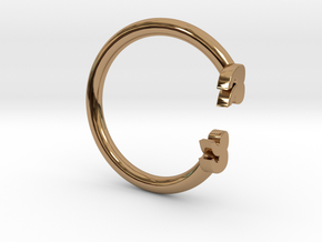 Punctuation Series: Quotation Ring (size 5.5) in Polished Brass