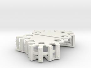 Ork Steam Gargant Style Track Cover Set in White Natural Versatile Plastic