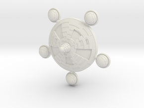 Federal Class Space Station - 1:10000 scale in White Strong & Flexible