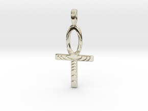 GOLDEN ANKH in 14k White Gold