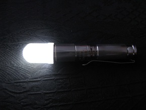 14mm Flashlight Diffuser (Dome Top) in Transparent Acrylic