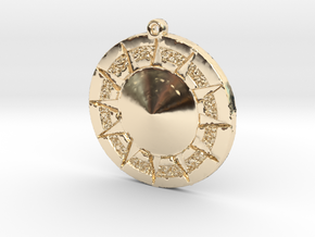 12 Tribes Star Pendent in 14K Yellow Gold