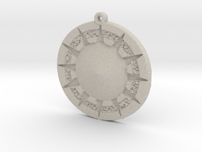 12 Tribes Star Pendent in Natural Sandstone