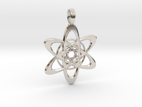 FLOWER ATOM in Rhodium Plated