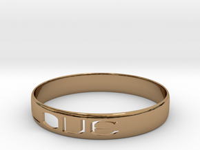 RING  LOVE   U.S Size 6 3/4 in Polished Brass