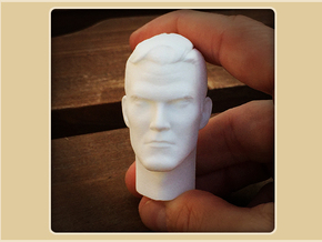 1:6 Scale Britt Reid Sr. Head in White Processed Versatile Plastic