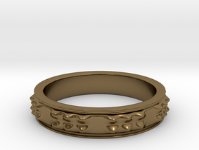 RING  PICOTS   U.S  Size 11 in Polished Bronze