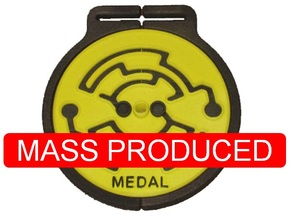 Medal in White Strong & Flexible Polished