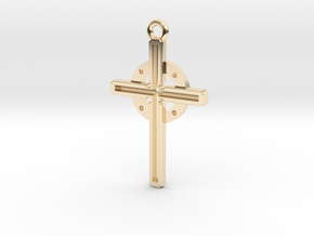 Cross larger in 14K Yellow Gold