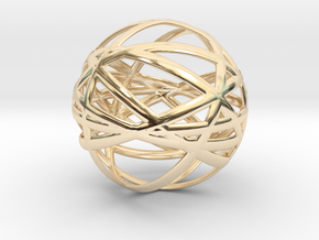 Orbits in 14k Gold Plated Brass