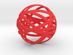Orbits in Red Processed Versatile Plastic