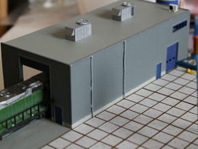 N Scale Train Maintenance Building in White Strong & Flexible