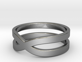 """Ring """"Across"""" Size 6 (16,5mm) in Fine Detail Polished Silver"""