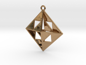 OCTAHEDRON Earring / Pendant Nº1 in Polished Brass
