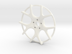 Twin Five Spoke Wheel Face in White Processed Versatile Plastic