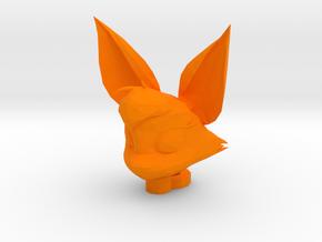 Fidgit Keychain in Orange Processed Versatile Plastic