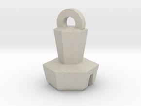 Platinum Bolt Keychain in Natural Sandstone