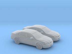 1/200 2X 2011 Chevrolet Impala in Smooth Fine Detail Plastic