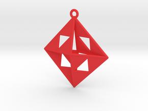 OCTAHEDRON Earring / Pendant Nº1 in Red Processed Versatile Plastic
