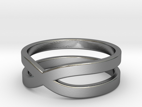 """Ring """"Across"""" Size 10 (19,8mm) in Fine Detail Polished Silver"""