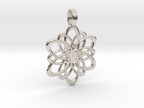 INFINITY FLOWER (pendant) in Rhodium Plated