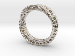 Twisted Bond Ring Size14 (23mm) in Platinum