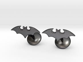 Batman Gotham Knights Cufflinks in Polished Grey Steel