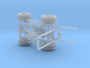 Meccano forklift in Smooth Fine Detail Plastic