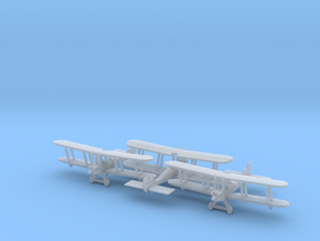 1/285 RAF BE2c x3 in Smooth Fine Detail Plastic