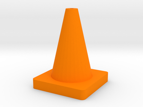 Rc Drift Cone in Orange Processed Versatile Plastic
