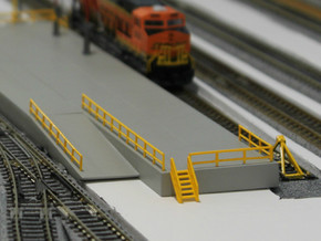 N Scale Stairs 6 (7 pc) in Smooth Fine Detail Plastic