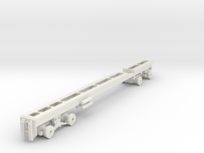 1/50th Heavy Oilfield type Twin Steer Truck Frame in White Natural Versatile Plastic