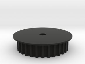 Encoder Pulley 2.0 in Black Natural Versatile Plastic