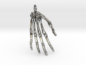 Hand bones with loop in Premium Silver