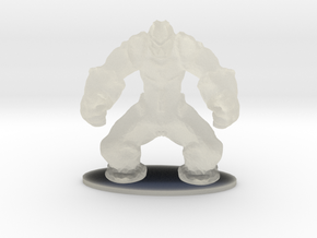 Rock Golem Earth Elemental Miniature in Transparent Acrylic