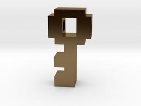8 Bit Key in Polished Bronze