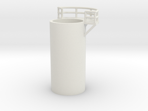 'N Scale' - 10' Distillation Tower - Middle - Righ in White Natural Versatile Plastic