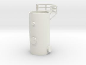 'N Scale' - 10' Distillation Tower - Bottom in White Natural Versatile Plastic