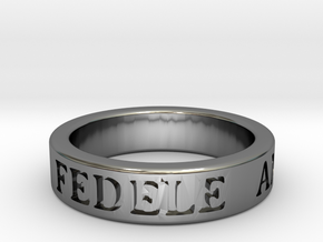 Promise Ring in Fine Detail Polished Silver