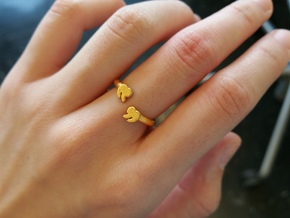 Punctuation Series: Quotation Ring (size 5.5) in Polished Gold Steel